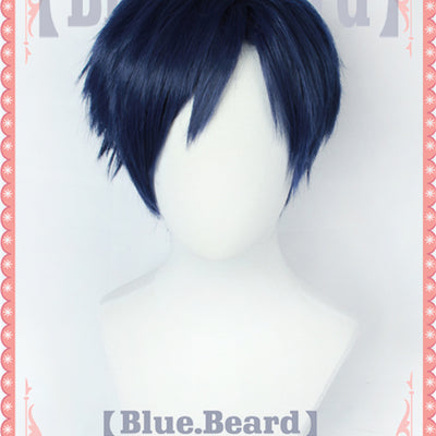 My Hero Academia Iida Tenya Short Blue Cosplay Wig