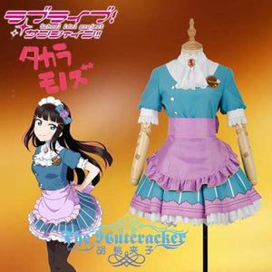Love live! Sunshine!! Dia Kurosawa Aqours Valentine's Day Maid Dress Cosplay costume