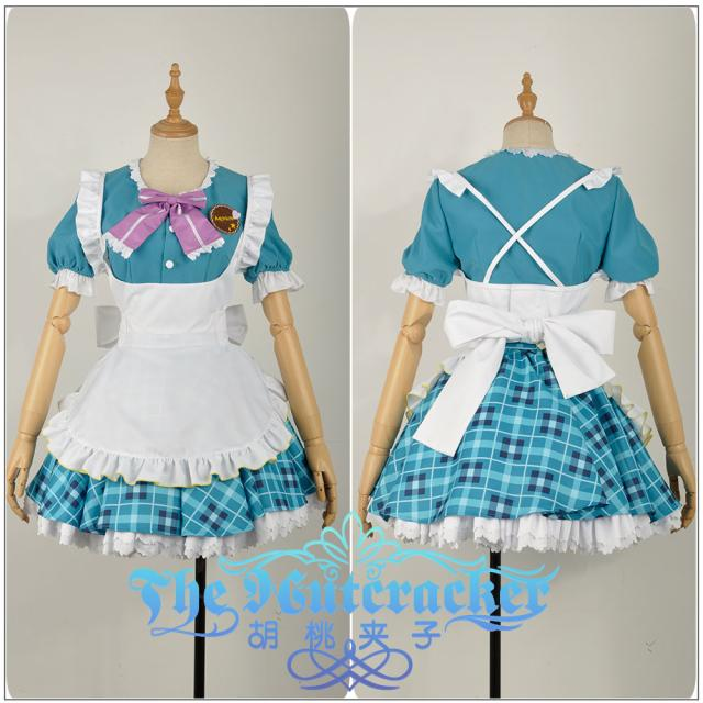 Love live! Sunshine!! Mari Ohara Aqours Valentine's Day Maid Dress Cosplay Costume
