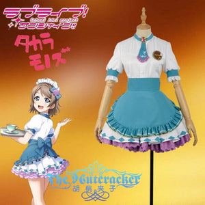 Love live! Sunshine!! Watanabe You Aqours Valentine's Day Maid Dress Cosplay Costume