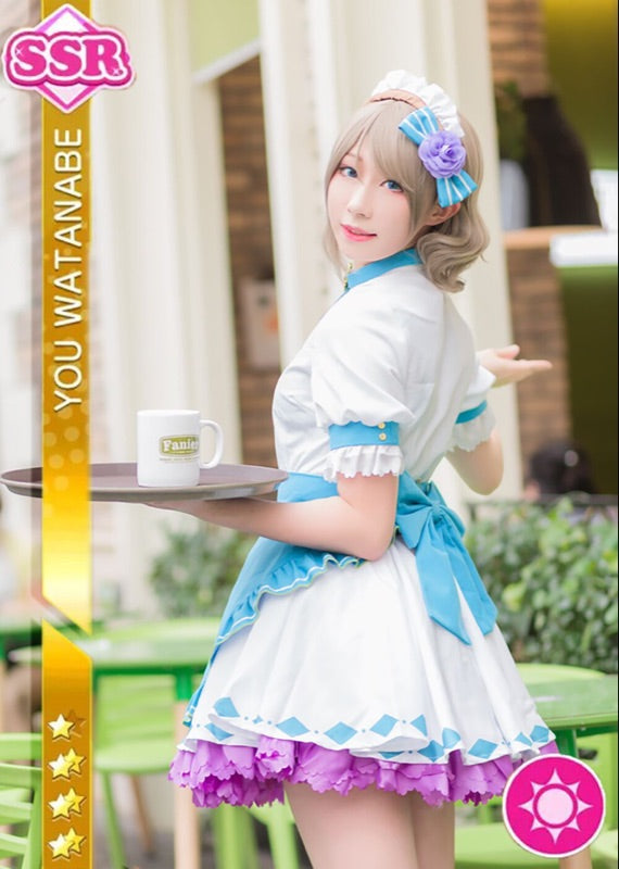 Love Live Sunshine Watanabe You Aqours Valentine S Day Maid Dress
