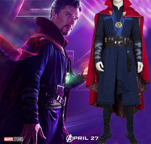 The Avengers Infinity War Dr. Strange Cosplay Costume (Including Boots)