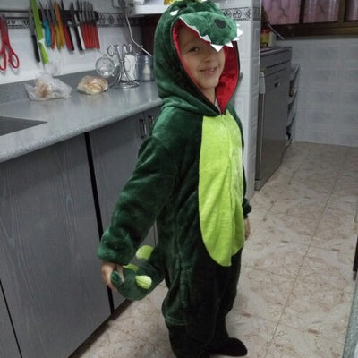 Children's Green Dinosaur Kigurumi