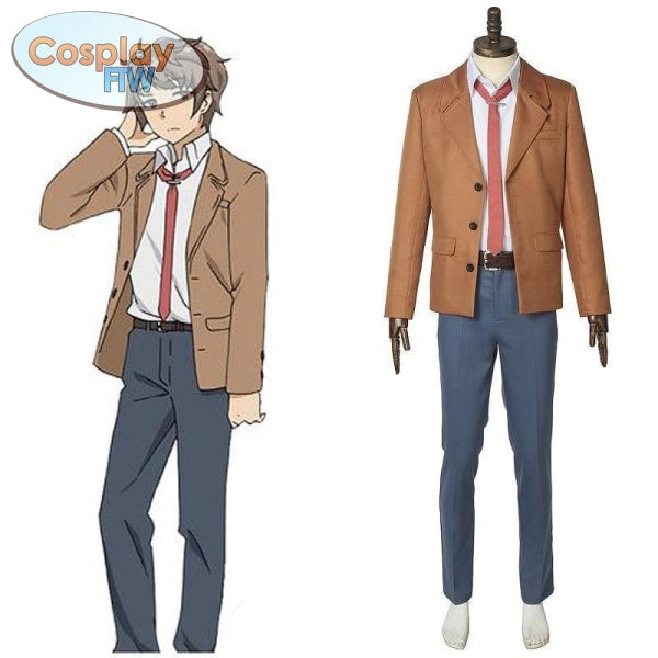 Rascal Does Not Dream Of Bunny Girl Senpai Azusagawa Sakuta Cosplay Costume / Seishun Buta Yarou