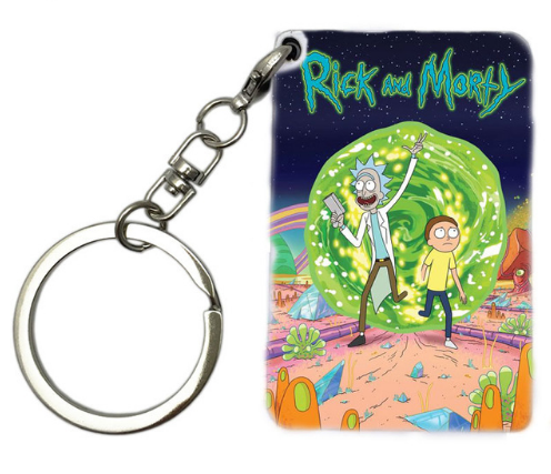 Rick and Morty Keychain - FREE SHIPPING