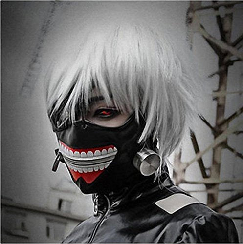Tokyo Ghoul Kaneki Ken Mask Cosplay (Adjustable zipper PU Leather)
