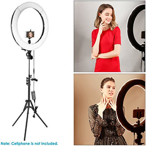 "Neewer Ring Light Kit:18""/48cm Outer 55W 5500K Dimmable LED Ring Light, Light Stand, Carrying Bag for Camera,Smartphone,YouTube,Self-Portrait Shooting"