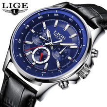 Load image into Gallery viewer, LIGE Mens Watches Waterproof Top Brand Luxury Quartz Watch Men Sport Watch Fashion Casual Military Clock Male Relogio Masculino