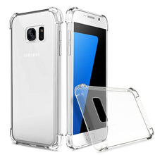 Load image into Gallery viewer, Shockproof Clear Soft Silicone Armor Case for Samsung Galaxy A8 Plus A5 A7 J2 Pro 2018 J3 J5 J7 2017 S6 S7 S8 S9 Plus back cover