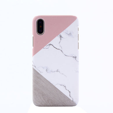 Marble Stripe Hard Case Cover Protector Skin Shell For iPhone [X] Shockproof