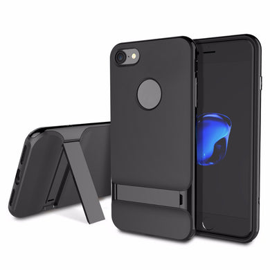 Kickstand TPU+ABS Shockproof Hard Case Scrub Skin Back For iPhone7 iPhone 7 Plus