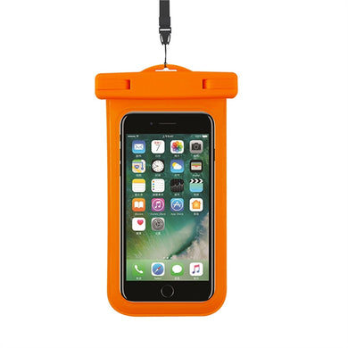 Universal Waterproof Phone Case Waterproof Bag with Armband Lanyard Rafting Kayaking Swimming Boating Fishing Skiing for iPhone 7 6s 6 Plus SE 5s 5c 5 Galaxy s8 s7 s6 edge Note 5 4 LG G6 G5 HTC 10 Sony Nokia up to 6 inch (Orange)