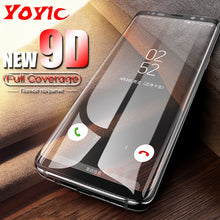 Load image into Gallery viewer, YOYIC 9D Full Cover Tempered Glass For Samsung Galaxy S8 S9 Plus Note 8 Screen Protector For Samsung Note 9 S8 Plus Glass Film