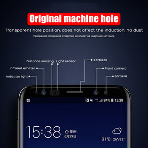 YOYIC 9D Full Cover Tempered Glass For Samsung Galaxy S8 S9 Plus Note 8 Screen Protector For Samsung Note 9 S8 Plus Glass Film