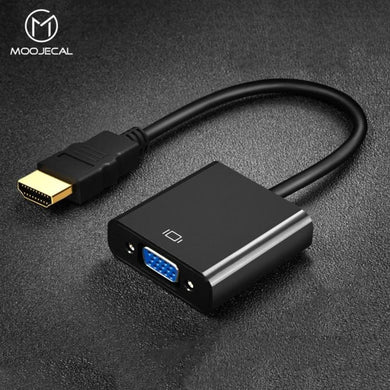 MOOJECAL High Quality HDMI to VGA Adapter Male To Famale Converter Adapter 1080P Digital to Analog Video Audio For PC Laptop