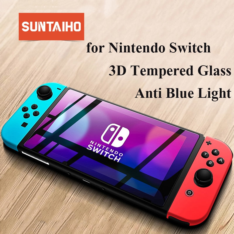 Suntaiho Screen Protector for Nintend Switch 9H Anti Blue Light Tempered Glass for Nintendo Switch Ultra Protective Glass Film