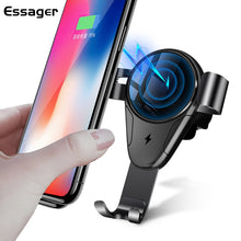 Load image into Gallery viewer, Essager 10W Qi Wireless Charger For iPhone X 8 Fast Charging Wirelss Car Mount Phone Holder For Samsung Galaxy Note9 s9 s8 Plus