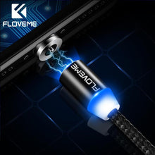 Load image into Gallery viewer, FLOVEME Magnetic Cable For iPhone Lighting Charging Cable Nylon Braided Magnetic Charger Micro USB Type C Cable USB Tipo C Cabo