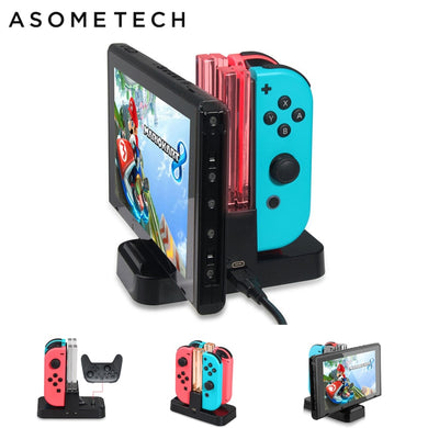 Charging Dock For Nintend Switch LED Charger For Nintendo Switch Gamepad Charge Stand For Joy-con&Pro Controller NS Switch 4 in1