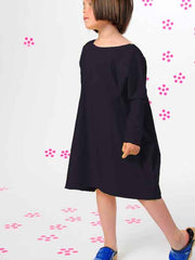 Large Image of BOdeBO Organic Dress Black 10-16yrs