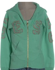 Large Image of DIESEL Zip Sweatshirt Peppermint