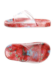 Large Image of D&G Jr Flip Flops Red Flower Print