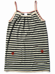 Large Image of Entertaining Elephants Organic Stripe Dress