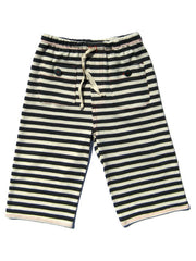 Large Image of Entertaining Elephants Organic Stripe 3/4 Shorts