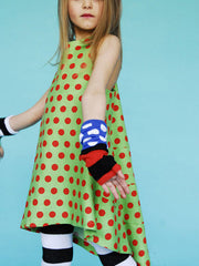 Large Image of BOdeBO of France Marcella Dress Green/Red Dots 4yrs *DIVINE*
