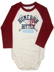 Large Image of Osh Kosh Baseball Bodysuit Red