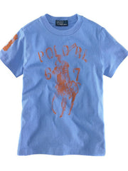 Large Image of Ralph Lauren Big Pony Faded Tee Blue