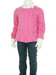 Large Image of Ralph Lauren Peplum Sweater Pink