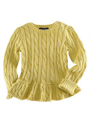 Large Image of Ralph Lauren Peplum Sweater Yellow