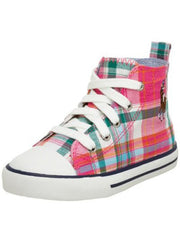 Large Image of Ralph Lauren Mulit Check Hi-Top Pink