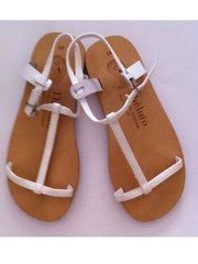 Large Image of Theluto France Strappy Sandal Metallic White *Stunning* from