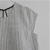 VDJ Linen Blouse B&W Striped - 6-10yrs *Casual Chic*