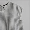 VDJ Linen Blouse B&W Striped - 10 - 15yrs *Casual Elegance*