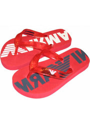 Large Image of Armani Flip Flop Red