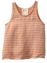Large Image of boy+girl Los Angeles Diagonal Stripe Linen Tank