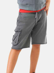 Large Image of Yporqué Spain Plush Cargo Shorts - Gorgeous fabric - Must Have