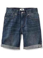 Large Image of Faded Denim Shorts, Slim Fit - Cool Essential - 6-16yrs