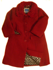 Large Image of CP Wool Overcoat Ruby