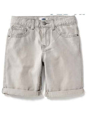 Large Image of Faded Denim Shorts Stone, Slim Fit - *Love the colour*