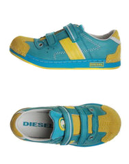 Large Image of Diesel Leather Turquoise Sneaker