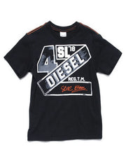 Large Image of Diesel SL Logo T-Shirt Navy