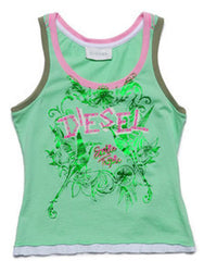 Large Image of Diesel Logo Tank Green