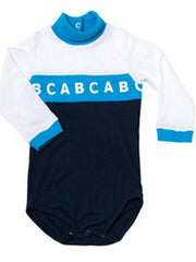 Large Image of Dis Une Couleur Of France Organic ABC Bodysuit Cyan