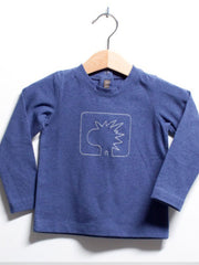 Large Image of We Were Small Pix Stitch Tee Blue