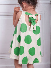 Large Image of Zozio Japan Dress Green/White