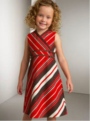 Large Image of Helena 1V Striped Dress